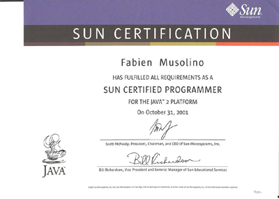 Certification Java Programmer